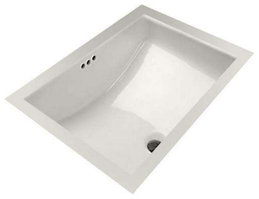 Mirabelle Miru1812 18 11 16 Porcelain Undermount Bathroom Sink With Overflow Traditional