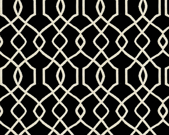 "Ballard Designs - Trellis Black Sunbrella Fabric by the Yard - Content: 100% Sunbrella® Acrylic. Repeat: Railroaded fabric, 4.14"" Repeat. Care: Spot clean with mild soap. Width: 54"" wide. Sand and black trellis woven in washable, easy-care Sunbrella acrylic.Content: 100% Sunbrella Acrylic. . . . Because fabrics are available in whole-yard increments only, please round your yardage up to the next whole number if your project calls for fractions of a yard. To order fabric for Ballard Customer's-Own-Material (COM) items, please refer to the order instructions provided for each product.Ballard offers free fabric swatches: $5.95 Shipping and Processing, ten swatch maximum. Sorry, cut fabric is non-returnable."