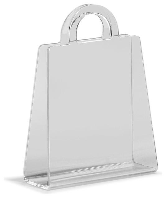 Purse Magazine Rack Transparent contemporary-magazine-racks
