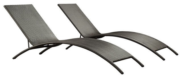 Jaunt outdoor wicker rattan chaise lounge chair modern outdoor chaise lounges by lexmod