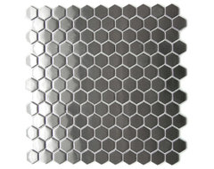 Honeycomb Hexagon Mosaic Stainless Steel Tile, Sample contemporary-mosaic-tile