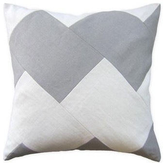 Slubby Linen Chevron Pillow modern kids bedding