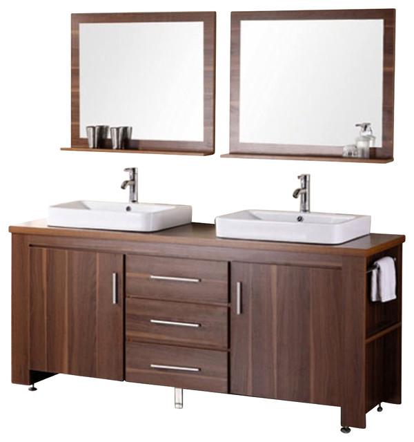 ... Vessel Sink Vanity Set - Toffee - Modern - Bathroom Vanities And Sink