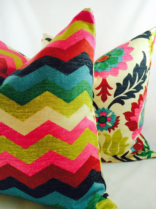 Waverly Santa Maria Desert Flower and Panama Wave Pillow Cover by My Pillow Shop -