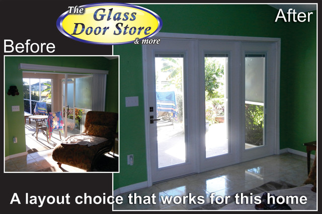 French doors to replace sliding glass doors - Eclectic - tampa - by The Glass Door Store