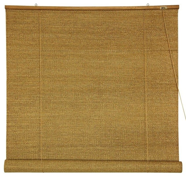 Woven Jute Roll Up Blinds - (48 in. x 72 in.) contemporary-roller-shades