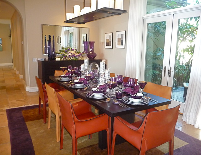 Featured Residence on a Holiday Home Tour contemporary dining room