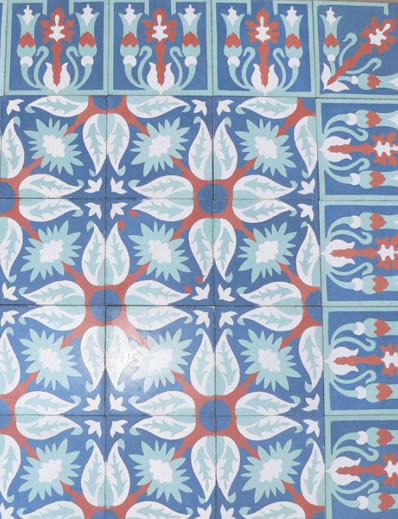 """Cuban Heritage Design 130 3B 8"""" x 8"""" traditional-wall-and-floor-tile"""