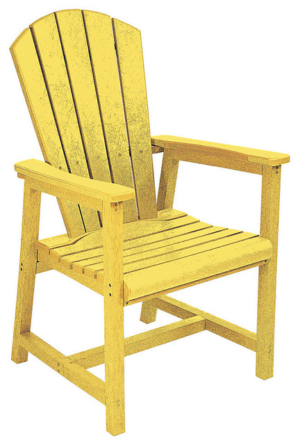 Generations arm dining adirondack style chair yellow for Outdoor furniture yellow