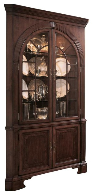 American Drew Cherry Grove Corner China Cabinet in Antique ...