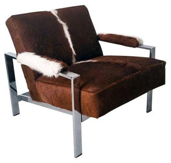 Argentinian Cowhide Milo Baughman Lounge Chair 2 500