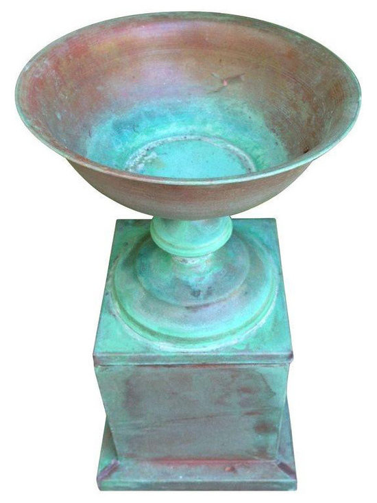 Baker Copper Urn with Base - Dimensions 9.75ʺW × 9.75ʺD × 19.5ʺH