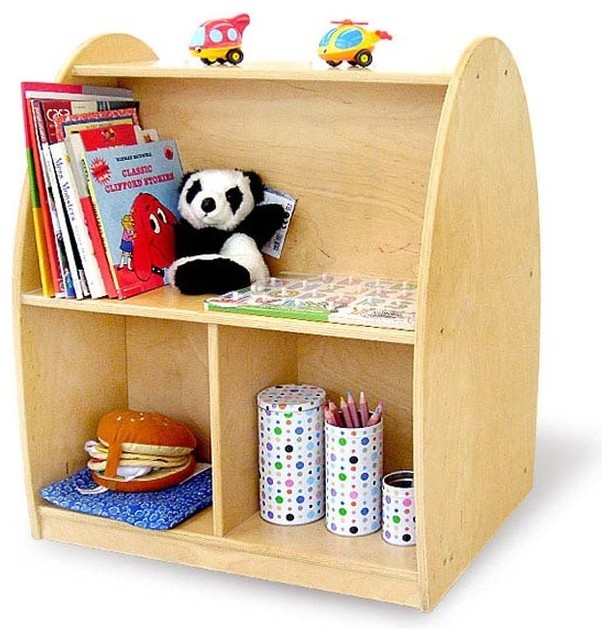 Toddler Arch Rolling Storage Shelf contemporary-toy-storage