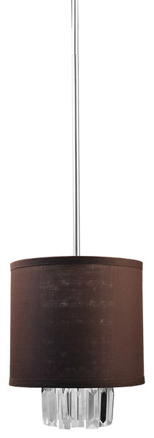 "Dvi Lighting DVP4809CH-ICE 9"" Round Pendant modern-pendant-lighting"