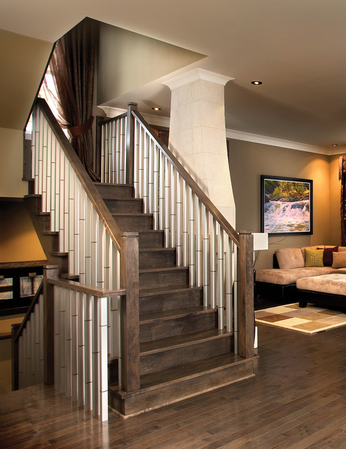 Aluminum balusters contemporary-staircase