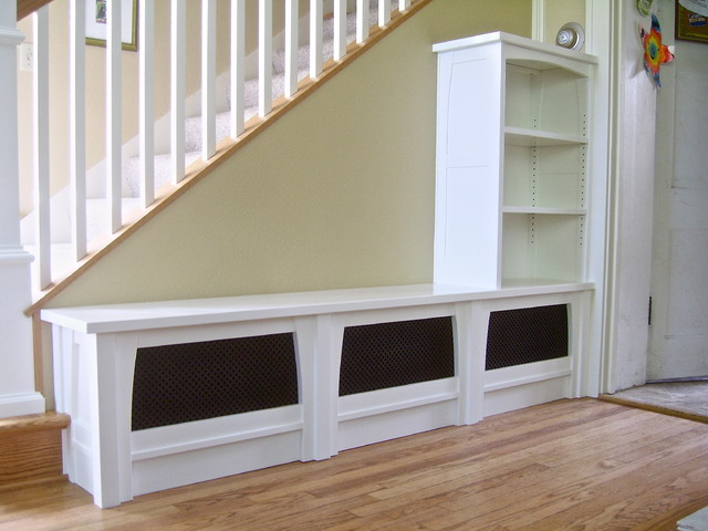 Entry Bench, Bookcase, & Stair Railing - Traditional ...