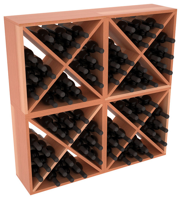 96 Bottle Wine Cube Collection in Premium Redwood, Satin Finish contemporary-wine-racks