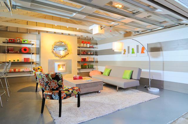 HGTV Garage Turned Lounge