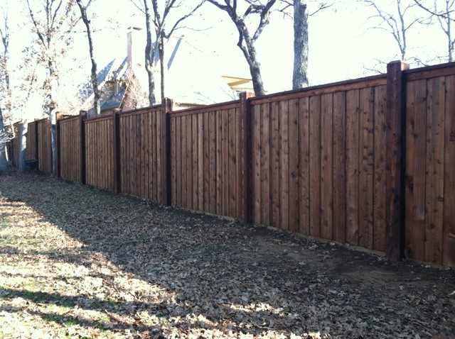 8x8 Posts Board On Board Fence Step Dallas By Texas