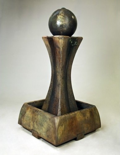 Henri Studio Low Hourglass Fountain contemporary-outdoor-fountains-and-ponds