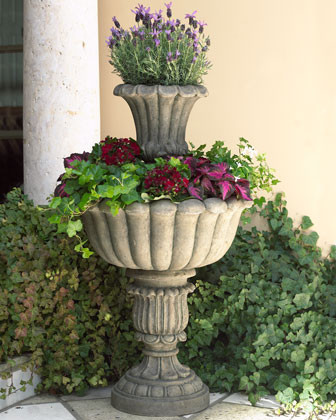 Dusk Tiered Planter traditional-indoor-pots-and-planters