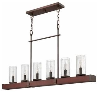 Hinkley Lighting | Jasper 6 Light Linear Chandelier modern-chandeliers
