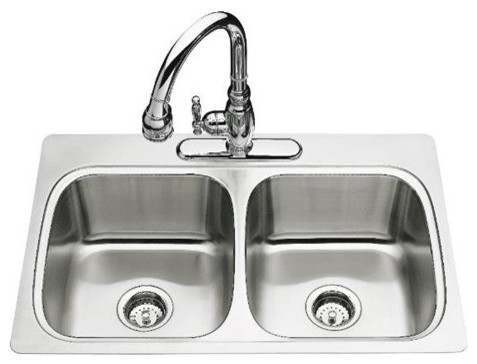 Verse Double Equal Self-Rimming Kitchen Sink modern-bath-products