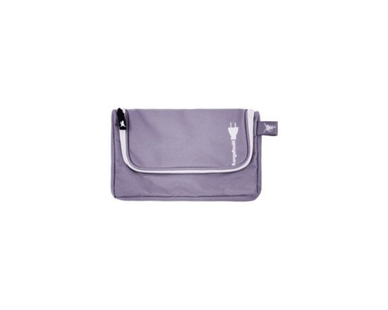Great Useful Stuff - Personal Media Pouch Lavender - Introducing our newest travel solution: the Personal Media Travel Pouch. This clever case was designed to be a more compact version of our super popular Travel Cord Organizer, since we received many inquiries asking for a smaller option for organizing personal electronic devices when on the go. When you are going on a short trip or weekend getaway and don't need to bring along all those gadgets, the Personal Media Travel Pouch is just right for keeping up to 3 essential items like a cell phone, mp3 player and digital camera, and all of their chargers. Each item is nestled in its own separate compartment with its charger stored neatly below it.