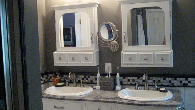 Custom Medicine Cabinet Traditional Bathroom Mirrors