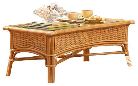 Lakeworth Rattan Coffee Table tropical-furniture