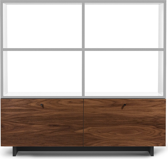 Spot on Square - Roh Shelving Unit Walnut/White - Modern - Storage Cabinets - by HORNE