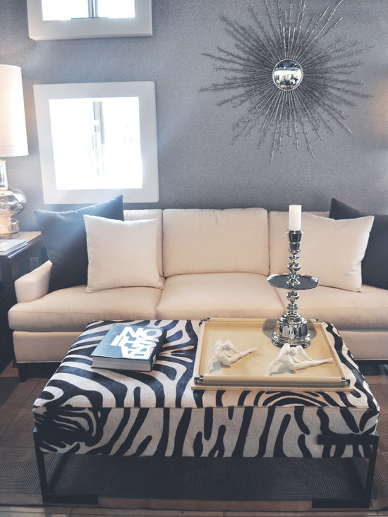 Showroom Pieces - Zebra Ottoman now on our floor. For more info please call (305)576-4566