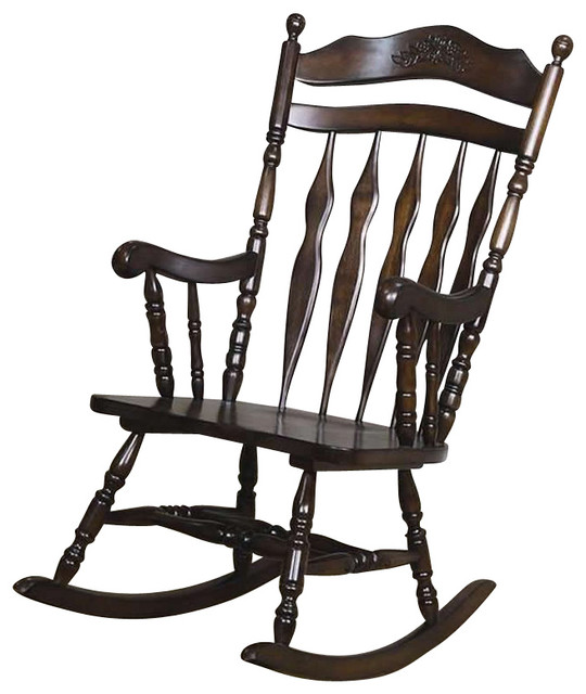 Coaster traditional country wood rocker traditional rocking chairs