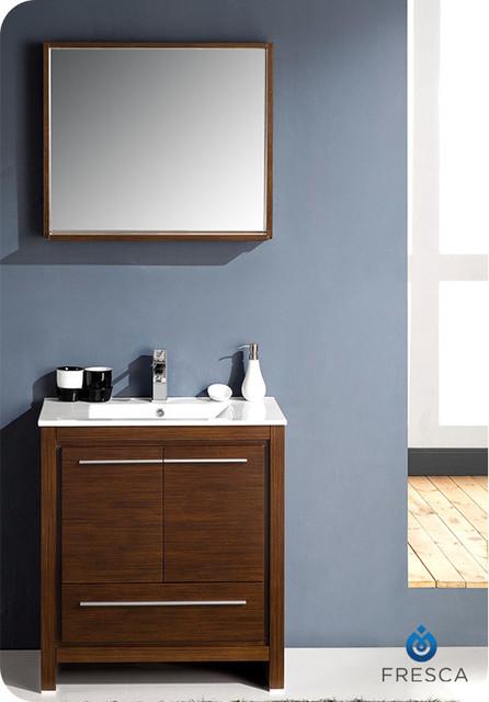 """29.5"""" Allier Modern Bathroom Vanity - Wenge (FVN8130WG) modern"""