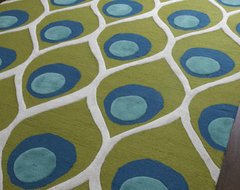 Global Views Bold Peacock Rug contemporary rugs