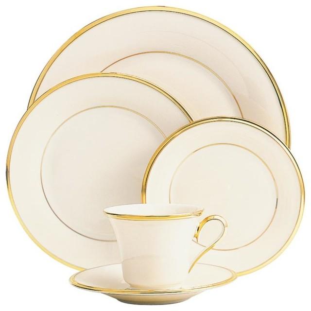 Lenox Eternal 5-piece Place Setting contemporary-dinnerware-sets