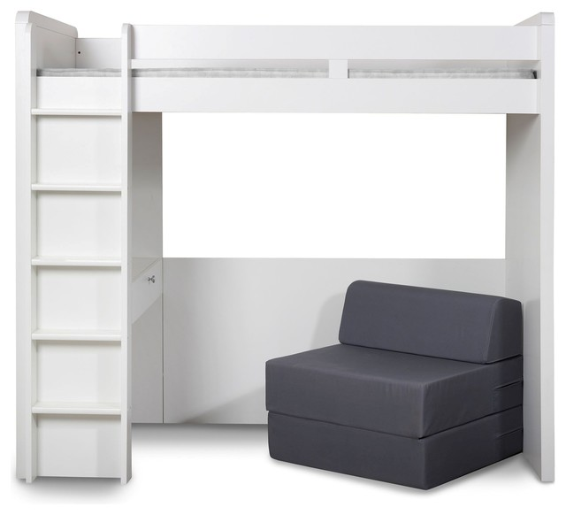 media high sleeper with futon modern kids beds by next