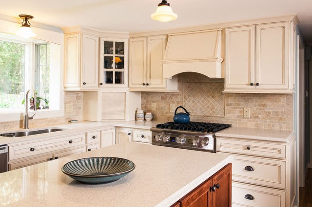 Green is As Traditional As You Feel traditional-kitchen-countertops