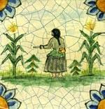 Handpainted Old World Tile Collection mediterranean-tile