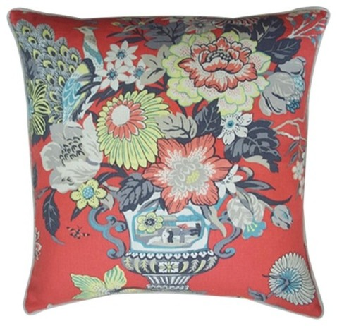 """Royalty 24"""" x 24"""" Pillow in Red modern-decorative-pillows"""