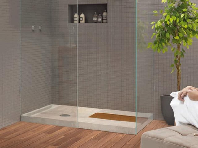 Beige Oco shower tray contemporary showers