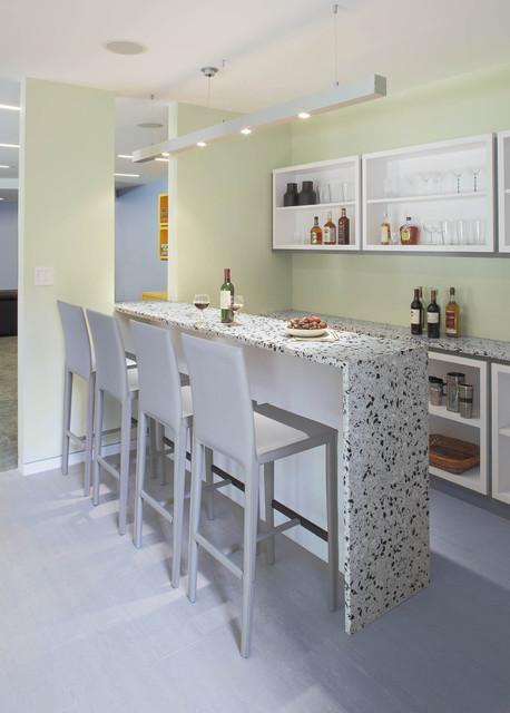 Westchester, NY contemporary-home-bar