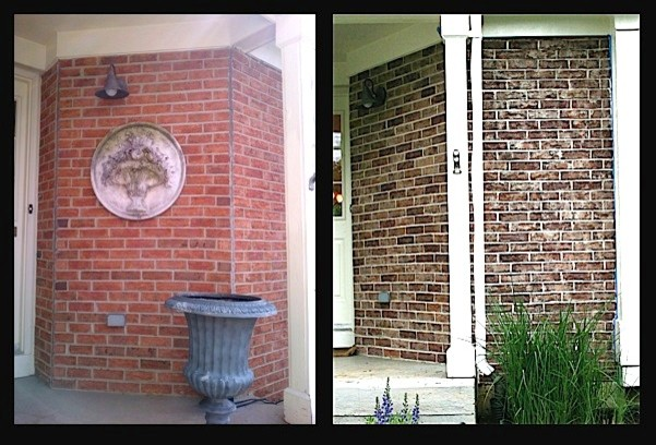 Crystal Lake Il Exterior Brick Staining Project