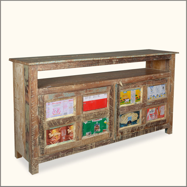 Distressed Foyer Console Table : Quot distressed entry way hall foyer storage reclaimed wood