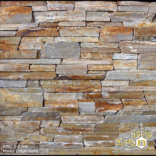 Modern Stone Veneer : Honey ledge stone™ stacked stone veneer modern siding