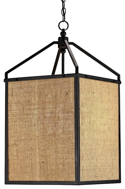 Currey & Co Wiggins Lantern traditional-pendant-lighting