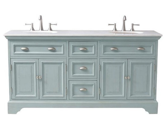 Sadie Double Vanity, Antique Blue -