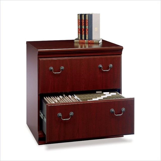 ... Wood File Cabinet in Harvest Cherry transitional-filing-cabinets-and