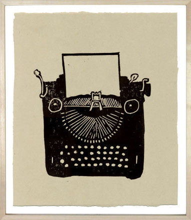 Typewriter Print contemporary artwork