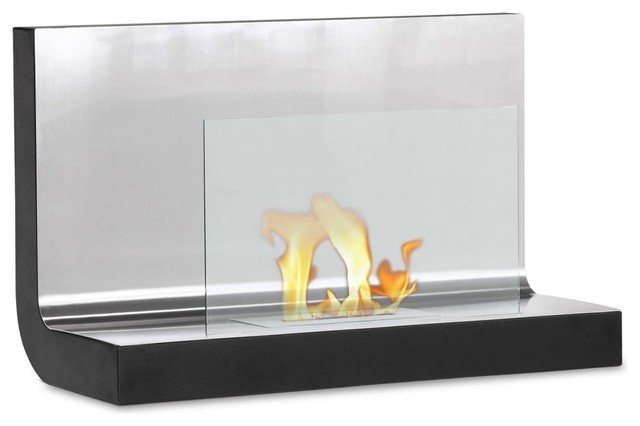 Ferrum Wall Mounted Ventless Ethanol Fireplace Contemporary Fireplaces By Ignis